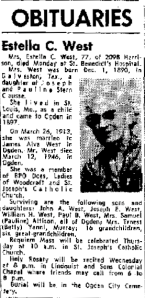 Estella Clausse West obituary